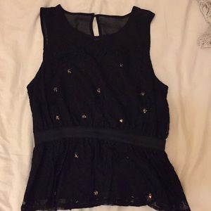 Free People lace top with embellishment